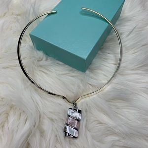 Jewelry - Abalone Pendant and Silver Slide Necklace